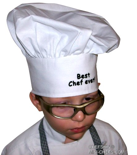 Baby Toddler White Chef Hat Personalized Monogrammed