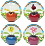 Solar Motion Insect Flower Ornament *Butterfly Ladybird Sun Flower* GIFT Packed