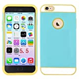 DEEGO- iPhone 6 PLUS(5.5 inch) (2014) Case, New Arrival Ultra Slim High Impact two in one Fit Dual Layer Hybrid TPU Case Cover for Apple Iphone 6 (5.5 Inch)(2014) (Blue+yellow Hybrid TPU for iPhone 6 PLUS Case Cover)