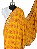 Shopatplaces Phulkari Dupatta In Yellow - CPPD14MA22