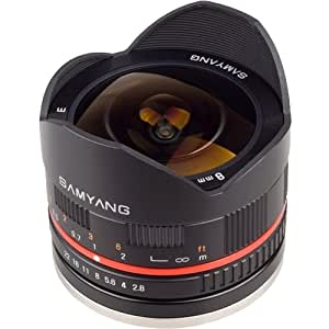 Samyang 8mm f/2.8 UMC Fisheye Manual Focus Lens (for Sony NEX Cameras)