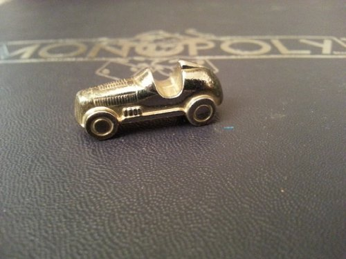 (Read Description Carefully) Monopoly - Deluxe Edition (Replacement Parts Only) Gold Looking Metal Game Token / Piece - Automobile Car - 1