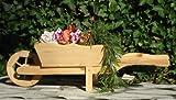 Brouette/brouette holzschubkarre-garten deko 125 cm, pot avec bac à fleurs en bois dé
