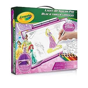 Amazon.com: Crayola Light-Up Tracing Pad - Pink Disney Princess