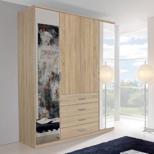 Kleiderschrank-ELAN-A-Eiche-Sonoma-verspiegelt-H236cm