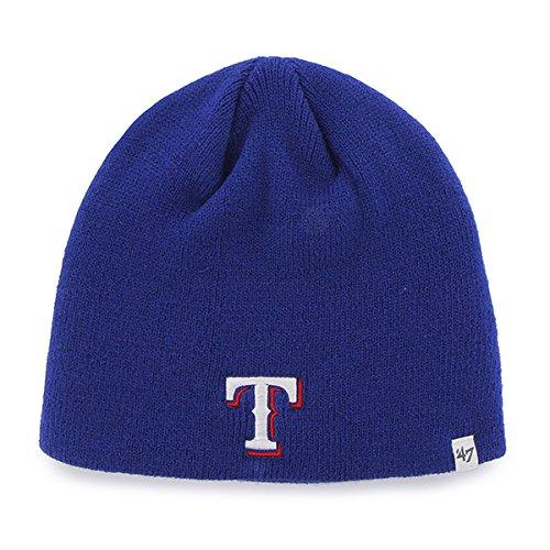Texas Rangers Blue Skull Cap - MLB Cuffless Winter Knit Toque Beanie Hat (Texas Rangers compare prices)