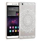 kwmobile Crystal Case Hülle für Huawei P8 mit Blume
