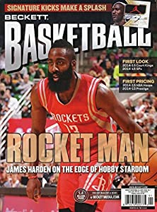 2015 January Current Beckett Basketball Card Monthly Price Guide Magazine Rocket Man James Harden Cover Issue 074470999775