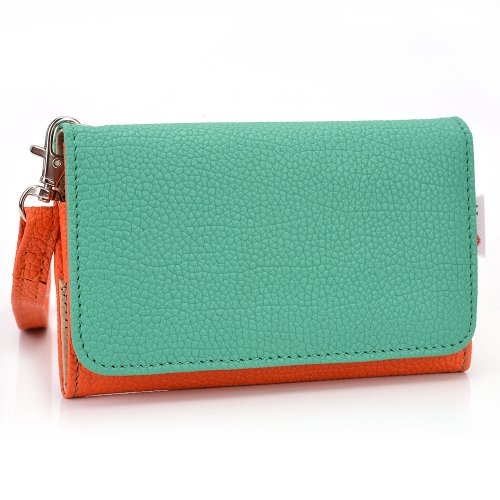 Exxist Women's Universal Wristlet Faux Leather Phone Wallet Case with Card Slots Fits Samsung Galaxy S3 Mini | Galaxy S4 Mini | Galaxy S4 mini (I9190) | Galaxy S5 mini (Forros For Samsung Galaxy S4 Mini compare prices)