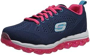 Skechers Kids 80222L Skech Air Inspire Athletic Sneaker,Navy/Hot Pink,1 M US Little Kid