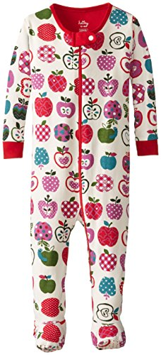 Hatley - Baby Girls Newborn Footed Coverall - Patterned Orchard Apples, Cream, 6-12 Months front-1075751