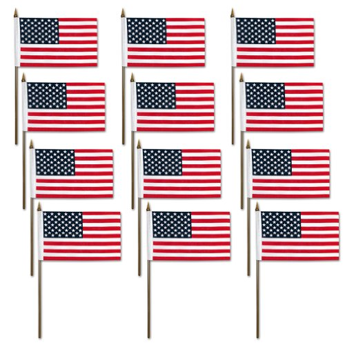 7a050c81584f Click Here to Get 12x Mini American U.S. US Flag on Plastic Sticks