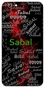 Sabal (Full Of Strength) Name & Sign Printed All over customize & Personalized!! Protective back cover for your Smart Phone : Samsung Galaxy Note-4