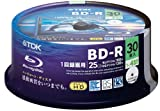 TDK Blu-ray BD-R Disk 25GB 4x Speed 30 Pack (Japan Import)