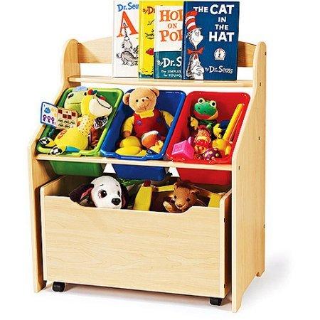 Cnlinkco-Kids-Room-Book-Shelf-Toys-Bin-Organizer-Storage-Box