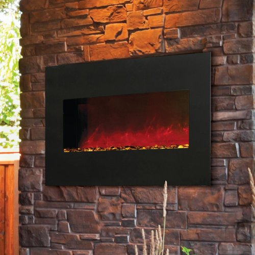 Amantii Wall Mount/Built-in 28-inch Electric Fireplace - Black Glass - Wm-bi-28 photo B00F6SFUR4.jpg