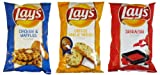 New 2013 Lay's Potato Chips Set 3 Flavored(cheesy Garlic Bread ~ Chicken & Waffles ~ Sriracha) Limited Edition