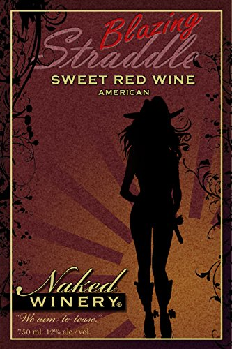 Nv Naked Winery Blazing Straddle Sweet Red Wine 750 Ml