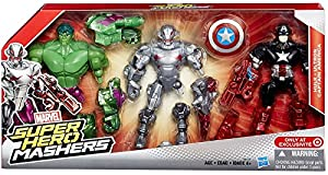 "Marvel Super Hero Mashers Battle Mash Pack Hulk, Ultron & Captain America 6"" Action Figure 3-Pack"