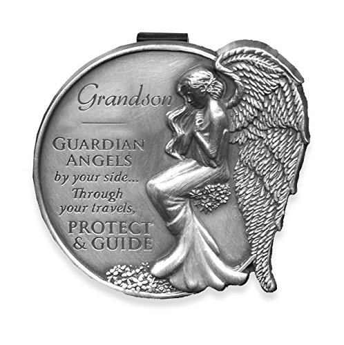 Angelstar 15687 Grandson Guardian Angel Visor Clip Accent, 2-1/2-Inch (Guardian Angel Clip compare prices)