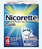 Nicorette Gum White Ice Mint 4 mg - 200 Count