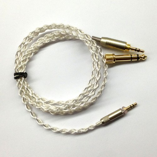 1.2M Silver Plated Audio Upgrade Cable For Sennheiser Hd598 Hd558 Hd518 Headphone