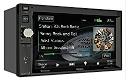 See Jensen DMX5020 6.2-Inch TFT Car Stereo 2.0 DIN MultiMedia Mechless Receiver with Built-In Bluetooth and Ext Mic/USB/App Control, No DVD Loader Details