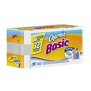 Charmin Basic Toilet Paper 16 Double Rolls