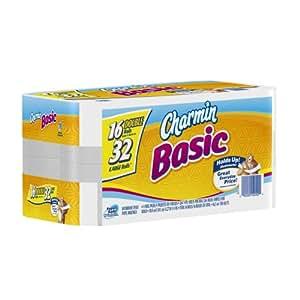 Charmin Basic Toilet Paper 16 Double Rolls