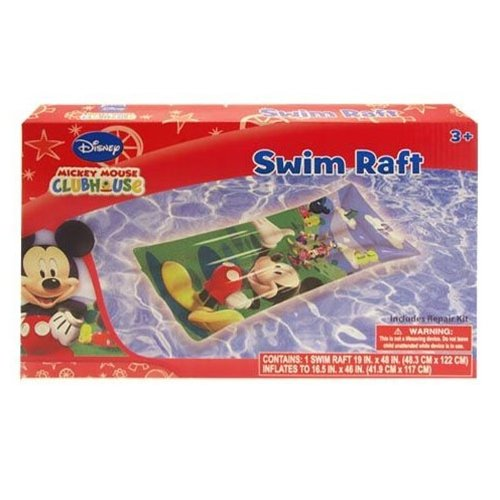 "Inflatable Raft - Disney - Mickey Mouse (19"" x 48) (Swimming Toys) - 1"