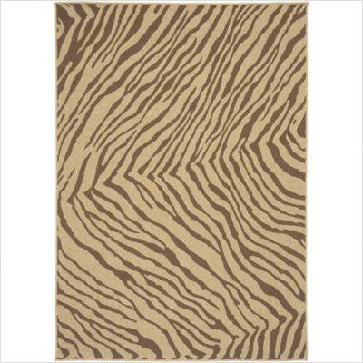 """Alfresco 9518 Zebra Indoor / Outdoor Rug Size: Square 8' 9"""""""