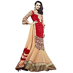 Aagaman Fashion Faux Georgette Lehenga Cholis (TSN88007_Orange)