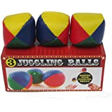"3 Juggling Balls Multi-Color ""Master Your Juggling Skills"""