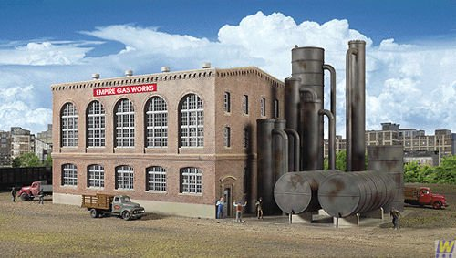 Walthers Cornerstone Series Kit Ho Scale Gas Plant front-352576