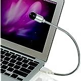CSL - Notebook-Ventilator / Fan | flexibler Schwanenhals | PC & MAC | silber