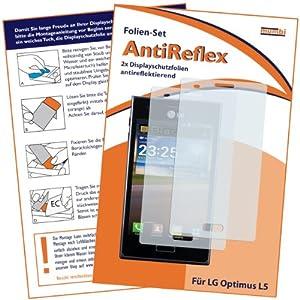 2 x mumbi Displayschutzfolie LG E610 Optimus L5 Schutzfolie AntiReflex antireflektierend