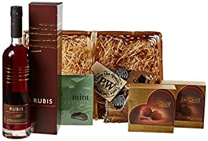 Porter and Woodman Rubis After Dinner Hamper Gift 50 cl