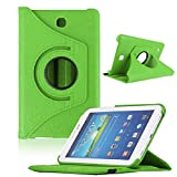 Mokingtop for Samsung Galaxy Tab3 7inch Tablet T210 Rotating 360 Case Cover (Green)