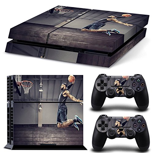 Hambur® PS4 Console Designer Skin for Sony PlayStation 4 System plus Two(2) Decals for: PS4 Dualshock Controller --- LeBron James NBA Design (Nike Steering Wheel compare prices)