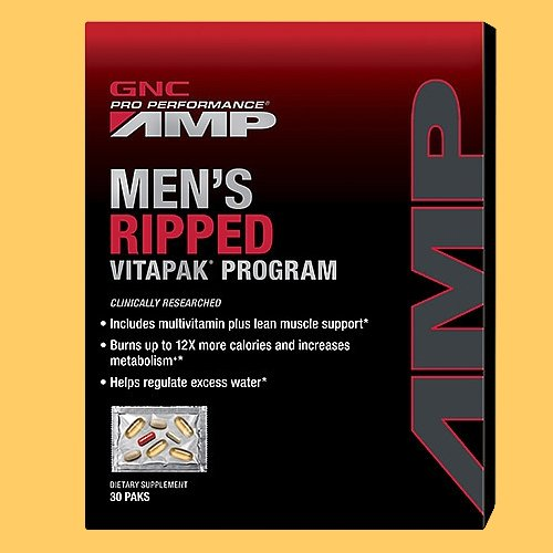 GNC Amp Men's Ripped VP Multi Vitamins, 30 Count (Ripped Pack compare prices)