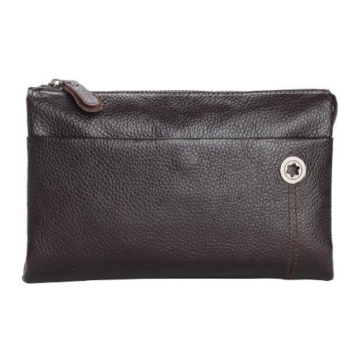 Men's New Arrival Smart Cow Leather Satchels Clutch Business Bag Purse