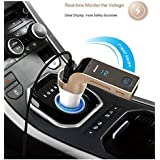 CARG7 Bluetooth Car Kit FM Transmitter MP3 Music Player SD USB Charger For IPhone Samsung Table PC - Gold