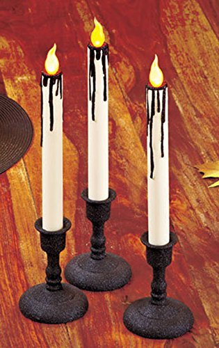 [Set of 3 LED Taper Halloween Candles] (Halloween Candles)