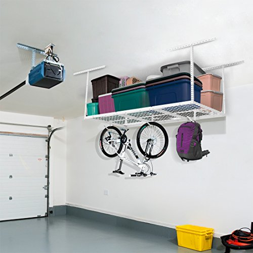 FLEXIMOUNTS 3x6 Heavy Duty Overhead Garage Adjustable Ceiling Storage Rack, 72
