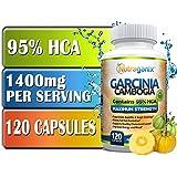 95% HCA Maximum Strength Garcinia Cambogia Extract, 120 Veggie Capsules, Non-GMO, Gluten Free, Vegan Friendly