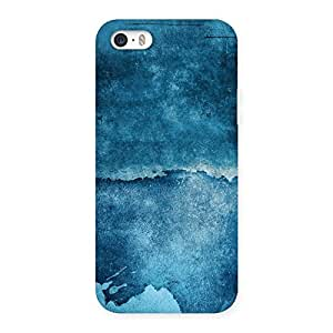 Stylish Blue Paint Print Back Case Cover for iPhone SE