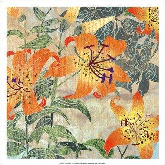 R Collier Artist Tiger Lilies II Art Poster