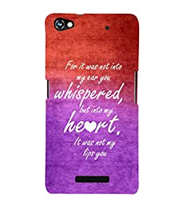 EPICCASE romantic quotes Mobile Back Case Cover For Micromax Canvas Hue 2 A316 (Designer Case)