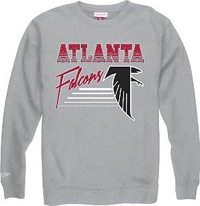 Atlanta Falcons Mitchell & Ness NFL Throwback Crew Sweatshirt - Gray by Mitchell & Ness