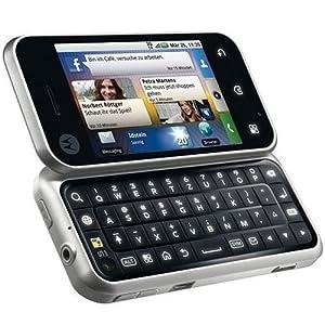 Motorola Backflip Smartphone (Android, 5 MP, GPS, Wlan, QWERTZ-Tastatur) Platinum Silver